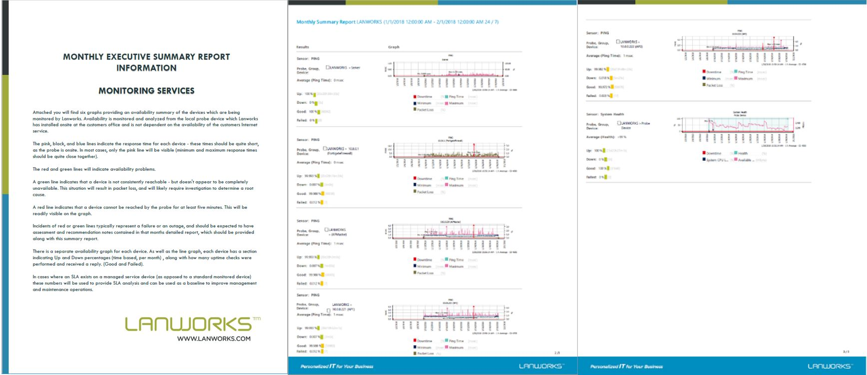 Sample: Lanworks Monthly Monitoring Report- Monitoring solutions